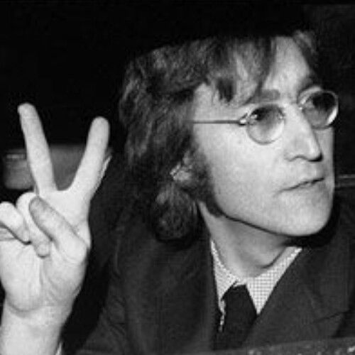 John Lennon Smoking English Singer Peace The Beatles Rock Music Star Photo