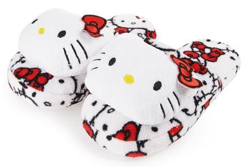 Relax in cozy style with these Hello Kitty plush slippers. Aaahhh...