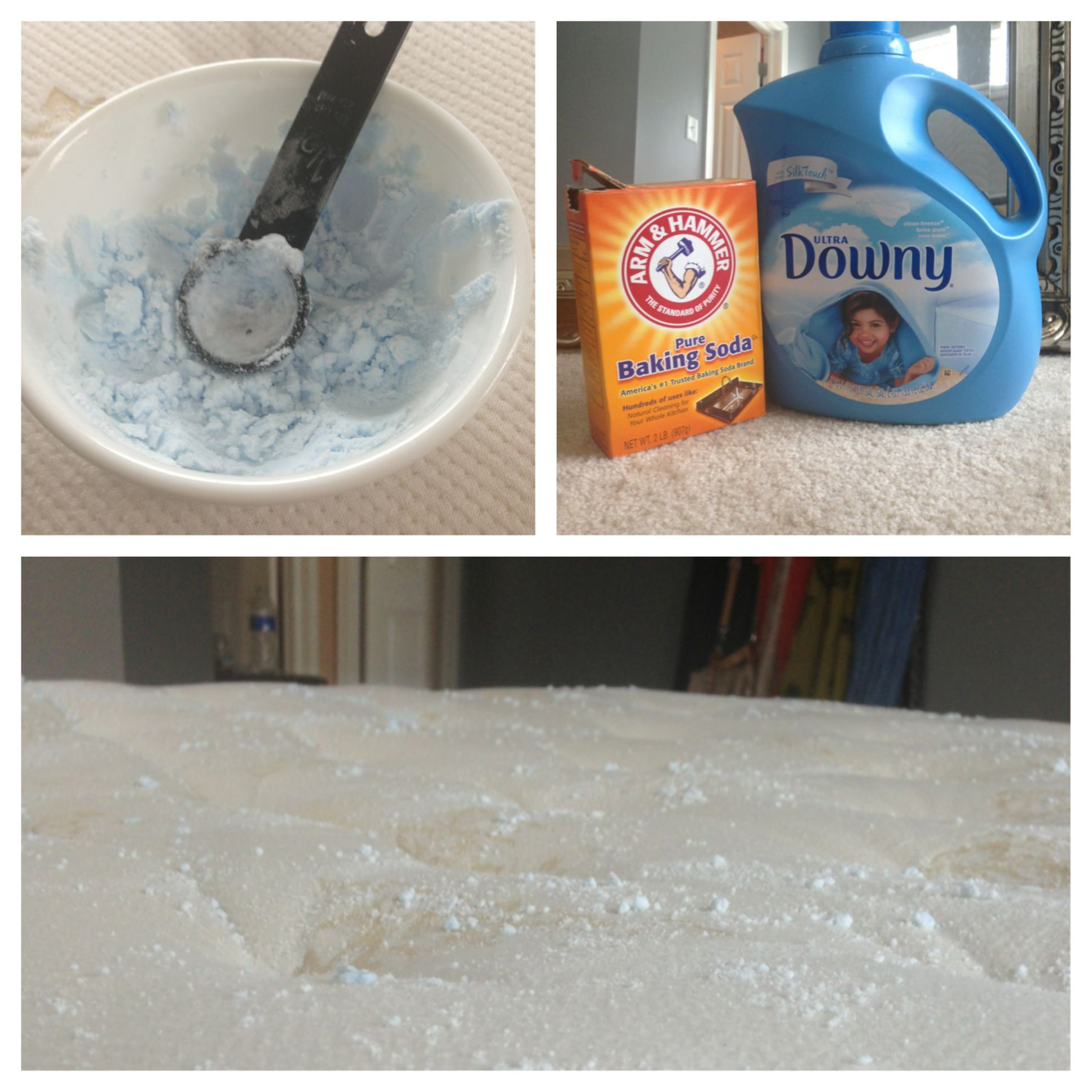 mattress freshener add 1 tablespoon of fabric softener to baking soda until grainy spread on. Black Bedroom Furniture Sets. Home Design Ideas