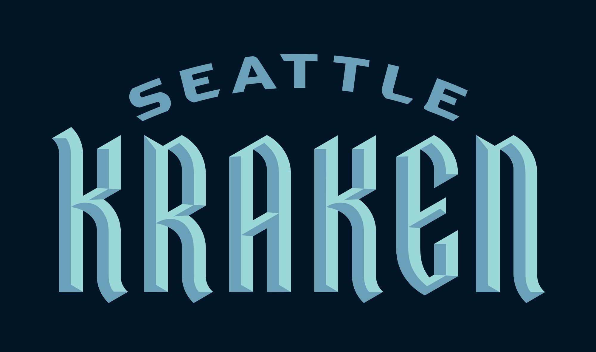 Brand New New Name And Logo For Seattle Kraken In 2020 New Names Identity Logo Gomez Palacio