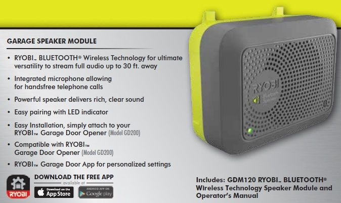Ryobi Garage Bluetooth Wireless Speaker Accessory Gdm120 The Home Depot Wireless Speakers Bluetooth Bluetooth Speaker Accessories
