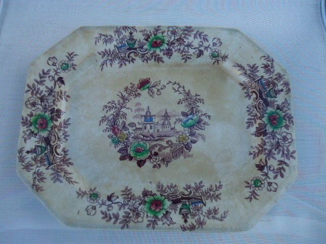 RARE ANTIQUE J Wedgewood Ironstone China Tyrol Platter