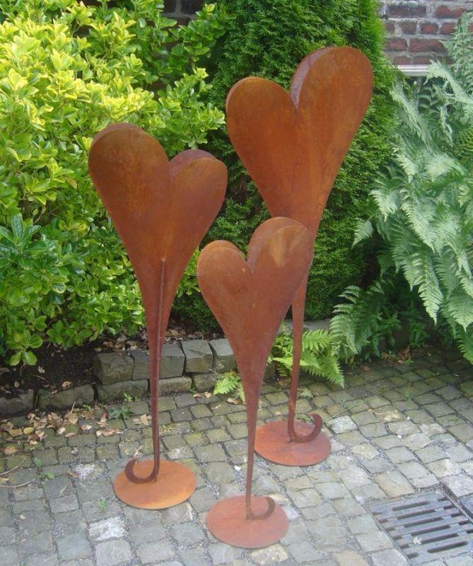 Herz 90 Cm Deko Rost Metall Gartendeko Edelrost Eisen Hochzeit Rost Deko Garten Garten Deko Edelrost