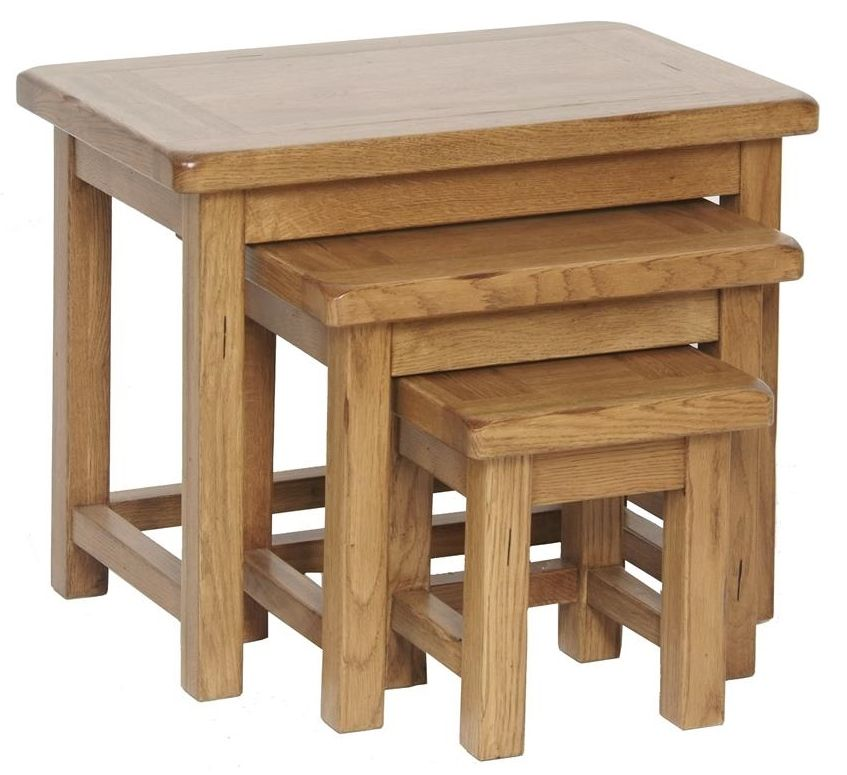 Branches Of Bristol Plymouth Range Rustic Oak Nest Of Tables