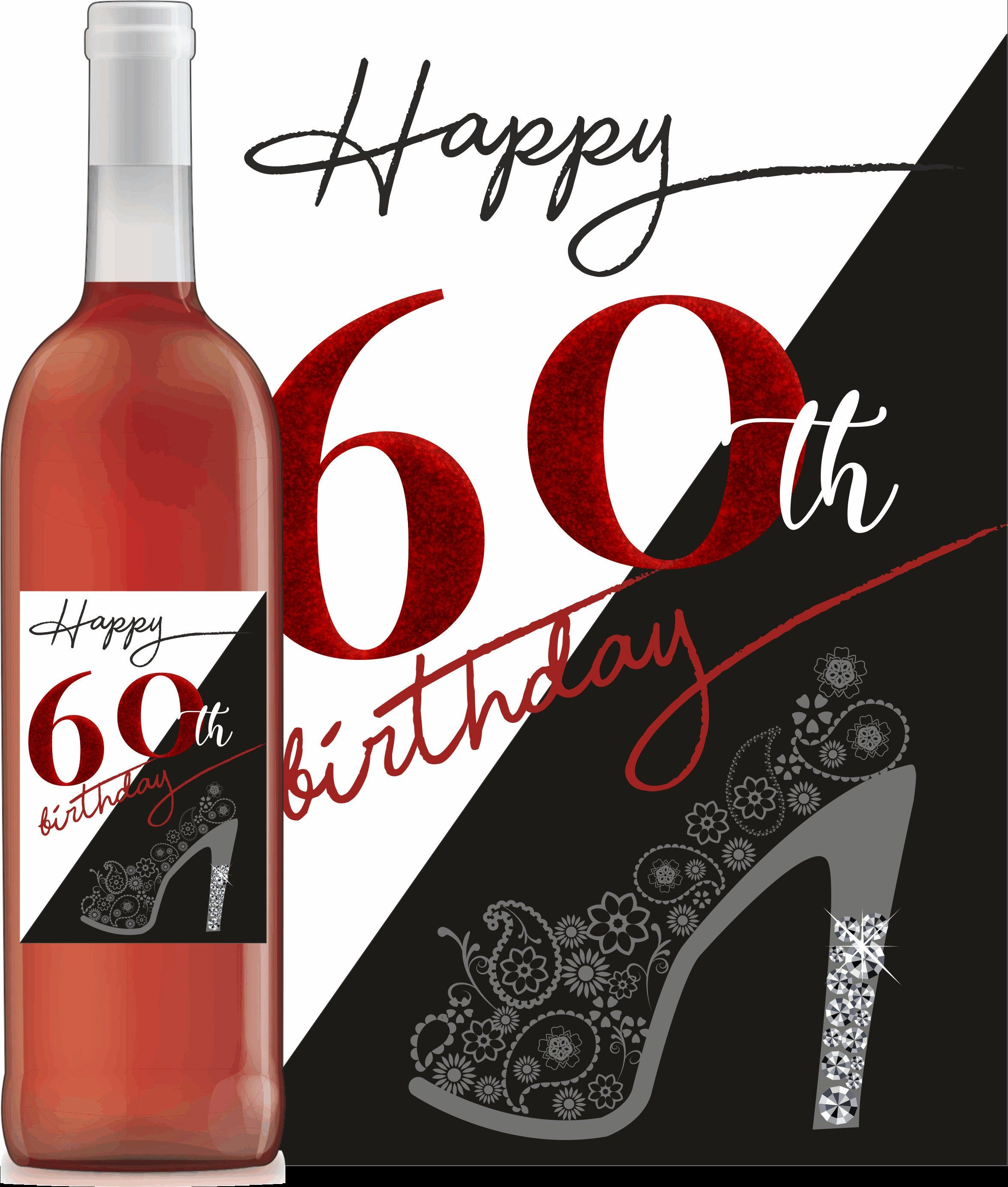 60th Birthday Wine Bottle Labels Adult Birthday 60th Party Black Red With Images Birthday Wine Bottle Labels 60th Birthday Wine Bottle Labels Birthday Wine Bottles