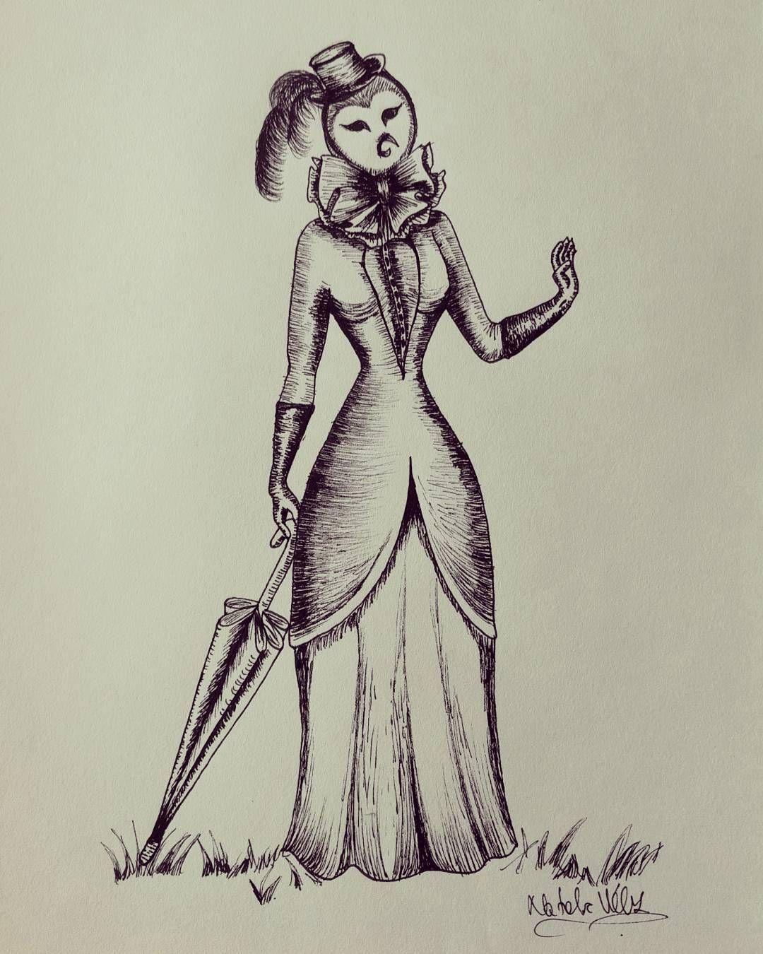 La Senorita Buho By Natalia Velez Ink Illustration Ilustracion Owl Lady Drawing Dibujo Tinta Buho Senorita Art Humanoid Sketch Hare