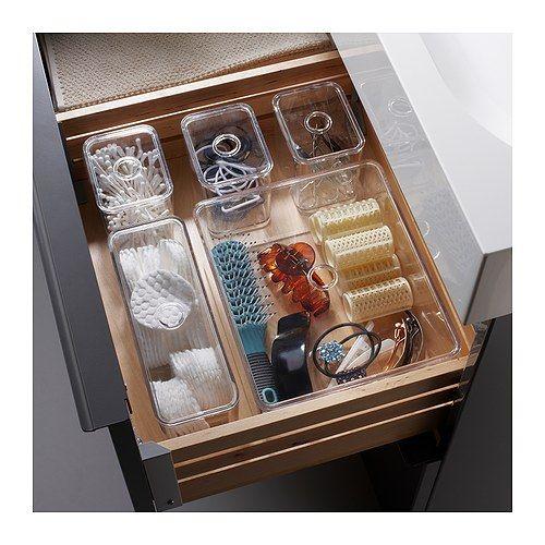 GODMORGON L da med lock  set om 5 IKEA 10  rs garanti  L s om villkoren. List of Lusts  Makeup Storage   Makeup organization  Diy makeup