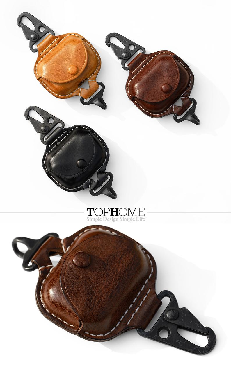 Airpods Pro Leather Case Premium Genuine Leather Cover For Etsy In 2021 Leather Case Protective Cases Leather