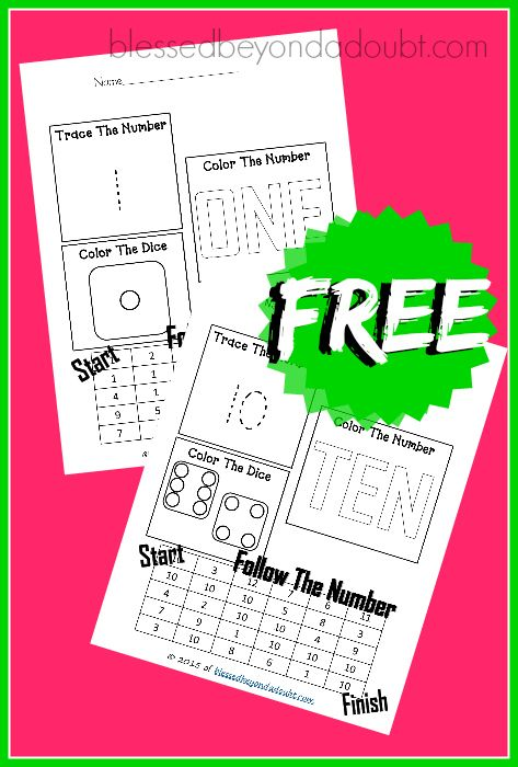 FREE Easy Math Worksheets that goes up to 10.   Easy math, Number ...