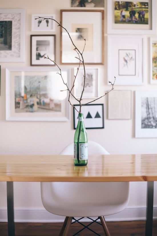 twig in a bottle via the daybook blog...