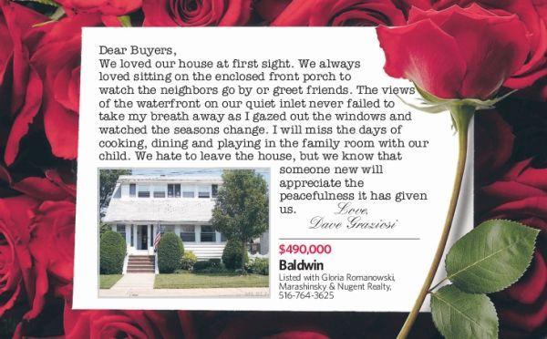 Love letters from home seller to buyer | Real estate and House