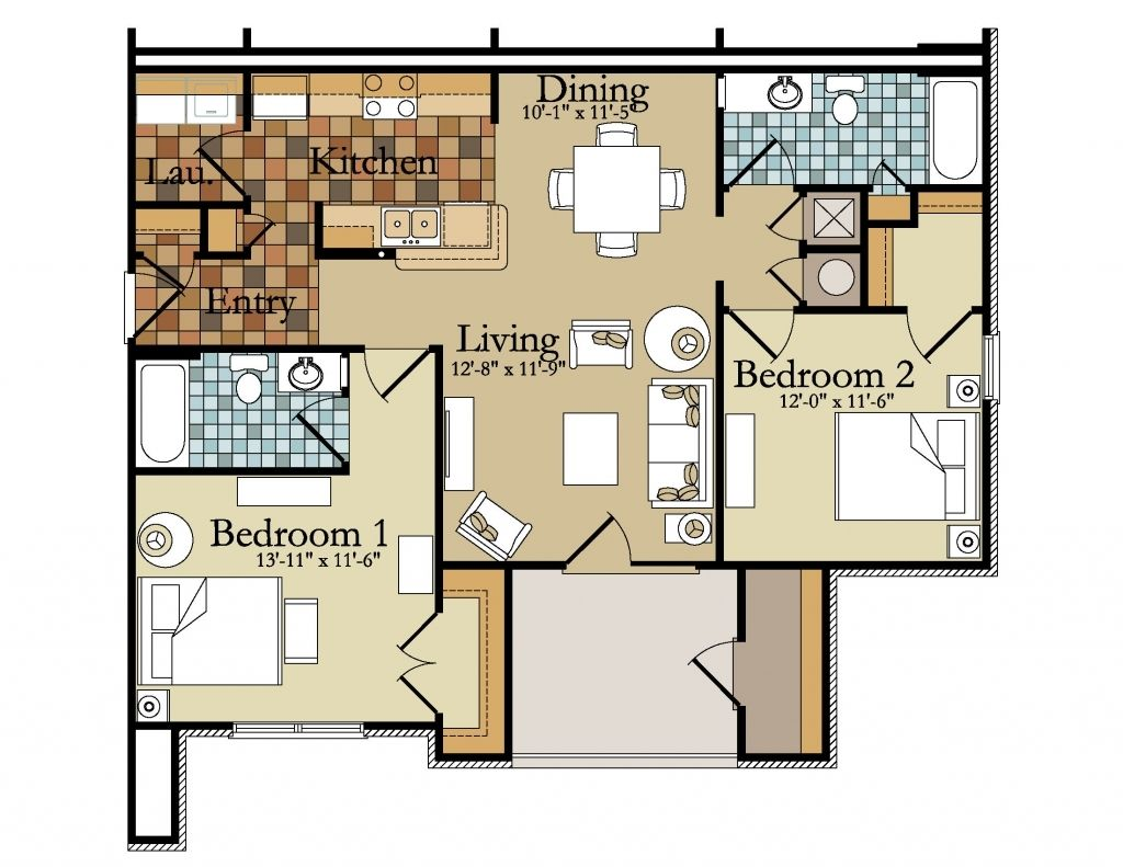 Incredible Amazing 2 Bedroom Apartments Small Two Bedroom