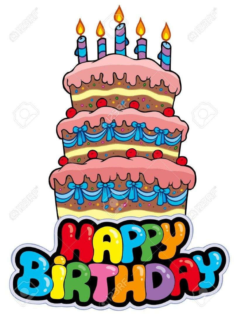 Excellent 27 Beautiful Image Of Cartoon Birthday Cake Birthday Cake With Funny Birthday Cards Online Fluifree Goldxyz