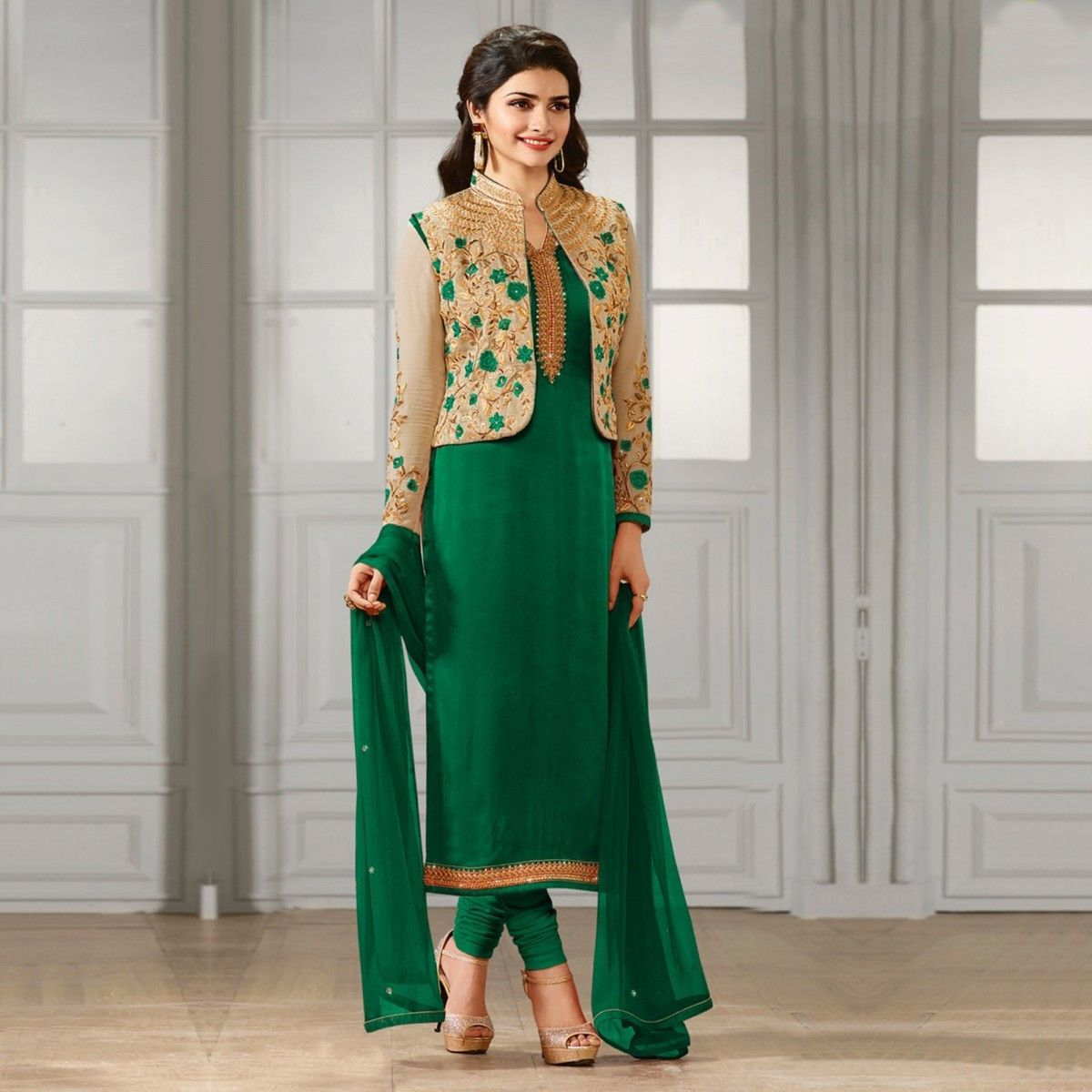 Buy Green Party Wear Designer Suit for womens online India, Best ...
