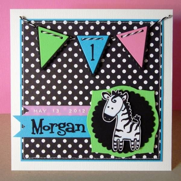 First birthday for twins - Morgan by Muffin67 - Cards and Paper Crafts at Splitcoaststampers