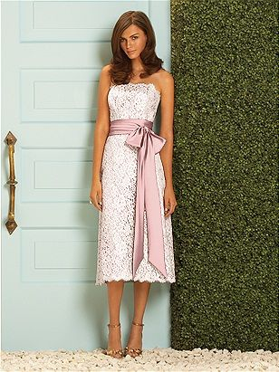 Champagne Lace Dress Dessy