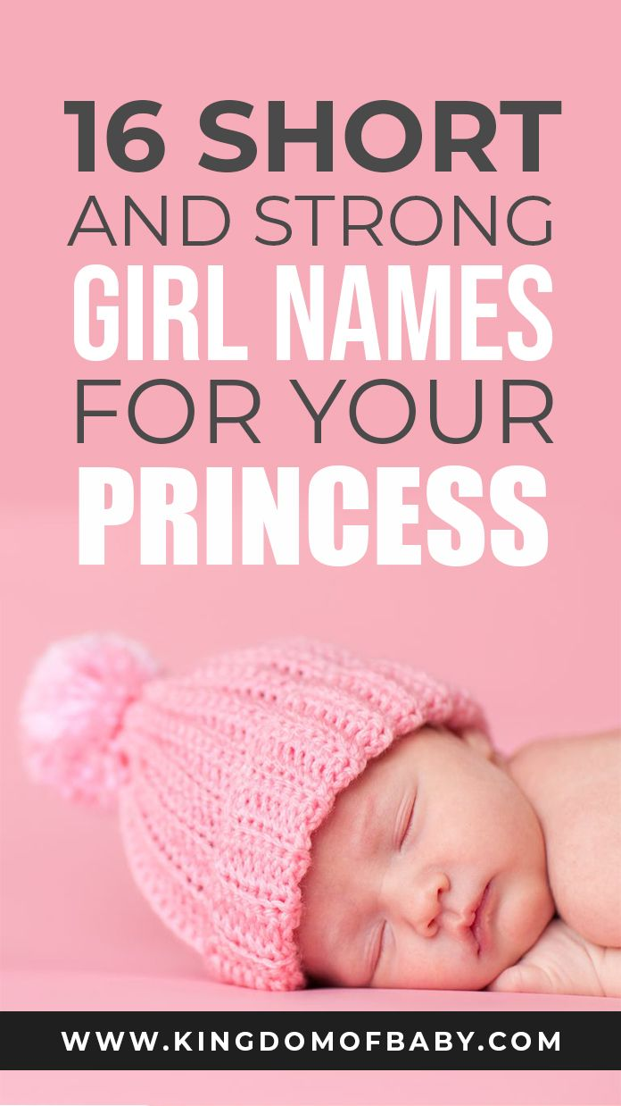 16 Short and Strong Girl Names for Your Princess | Kingdom ...