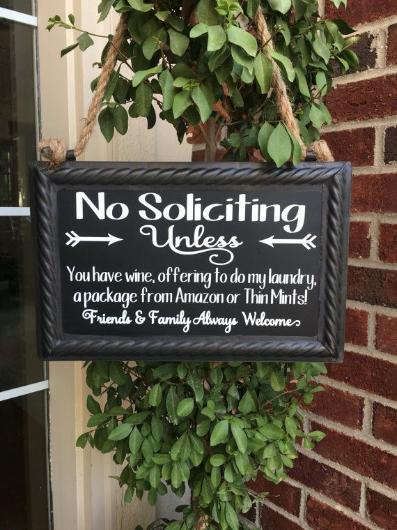 Thin Mints Soliciting Sign No Soliciting Sign Funny Solicitation Sign Wine Soliciting Sign Chalkboard Sign