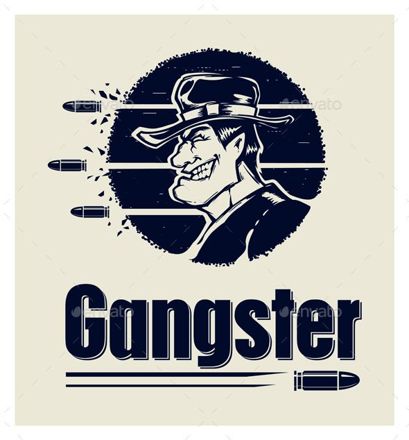 Gangster Logo Graphics Drawing Painting Illustrations