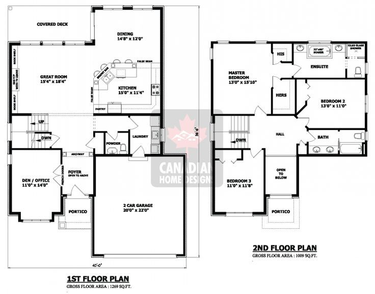 exceptional two story house plans canada #1: 2 storey house layout - House and home design