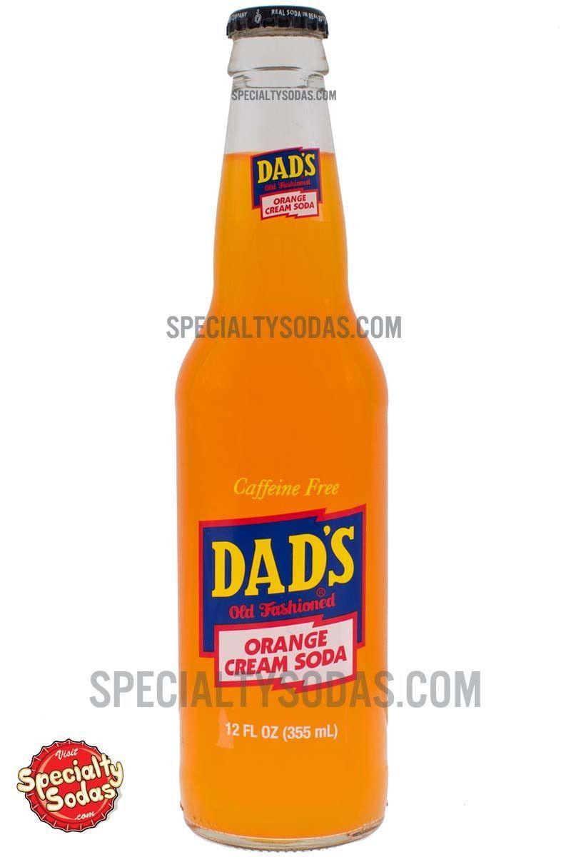 Dads orange cream soda 12oz glass bottle cream soda