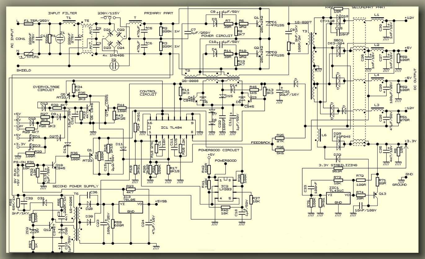 Atx Electronic Projects Electronics Circuit Diagram