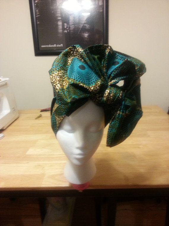 Stylish Ankara wax print headwraps