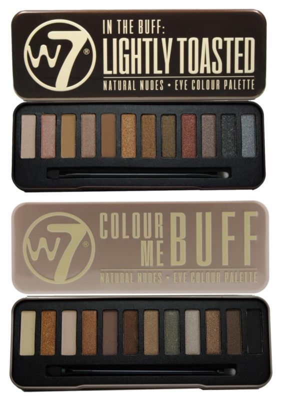 W7 -Lightly Toasted and Colour Me Buff Eyeshadow Palette #ad