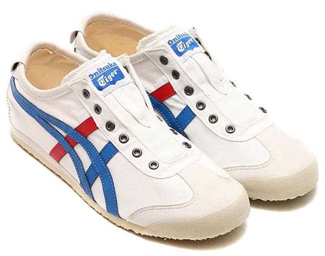 premium selection d9583 b049a Onitsuka Tiger MEXICO 66 SLIP-ON [WHITE / TRICOLOR] th1b2n ...