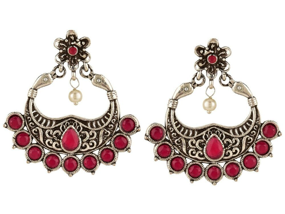 6c1cade84 Indian Bollywood Oxidized Fashion Tribal Dangle Chandbali Jhumka Earrings  Ladies #Efulgenz #DropDangle