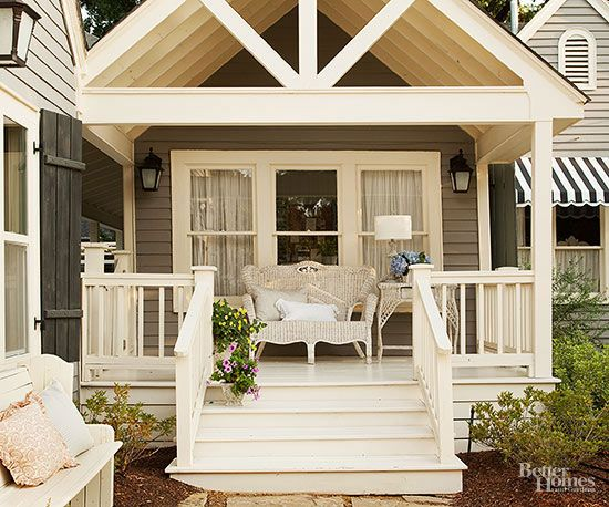 Pretty Covered Patios Patios, Small spaces and Spaces