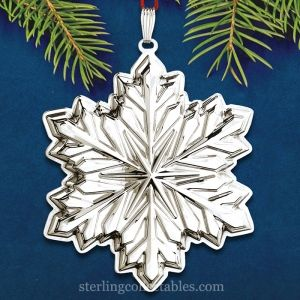 2014 Reed & Barton Holiday Snowflake 2nd Edition Sterling Ornament ...