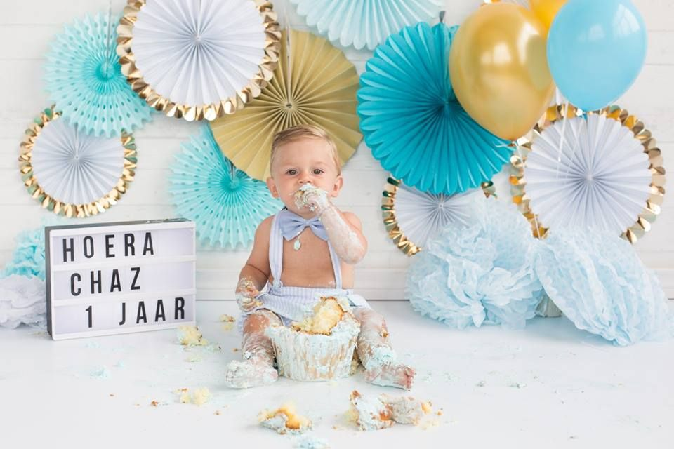 Verrassend Cakesmash fotoshoot bij Steef en Suus! #cakesmash #cake #cupcake RH-65