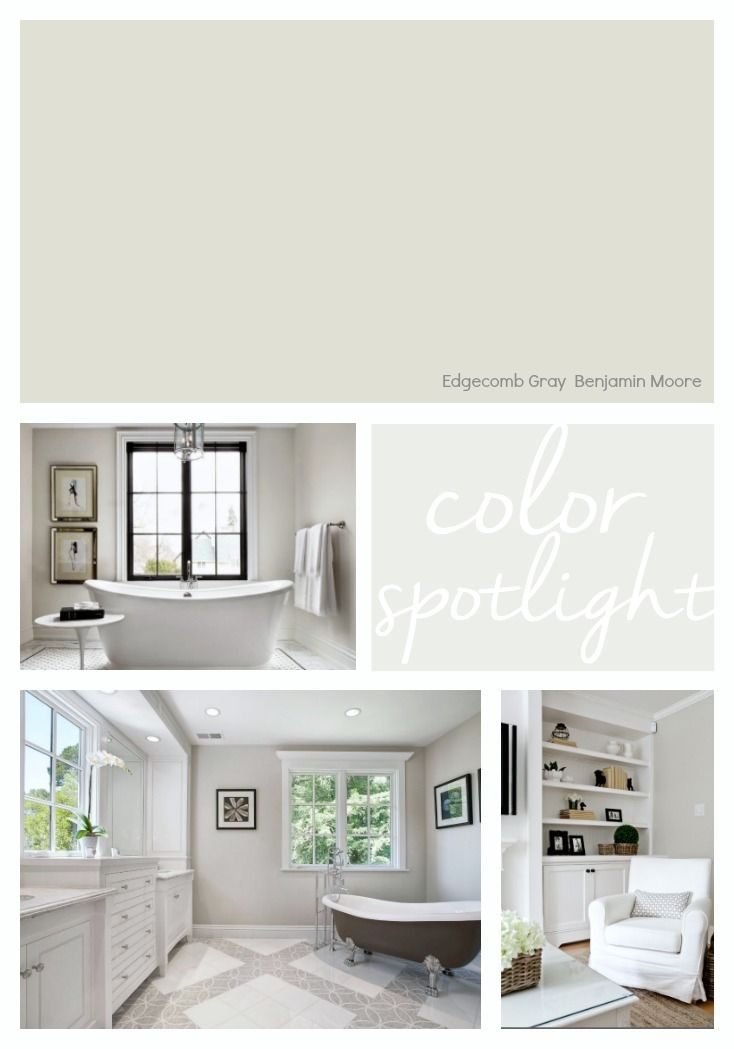 Benjamin Moore Edgecomb Gray Color Spotlight Bedroom Paint