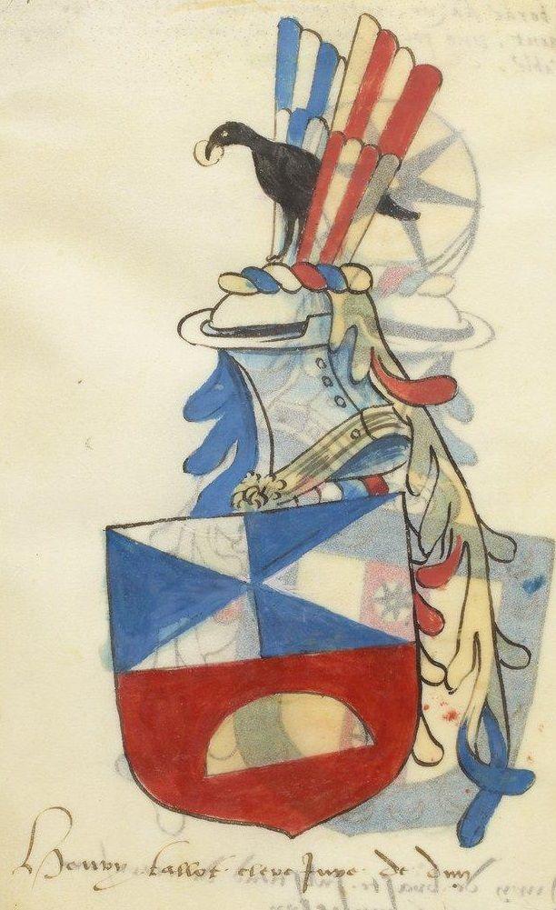 Henri Tallot, ennobled in 1512.  Armorial de Lorraine.