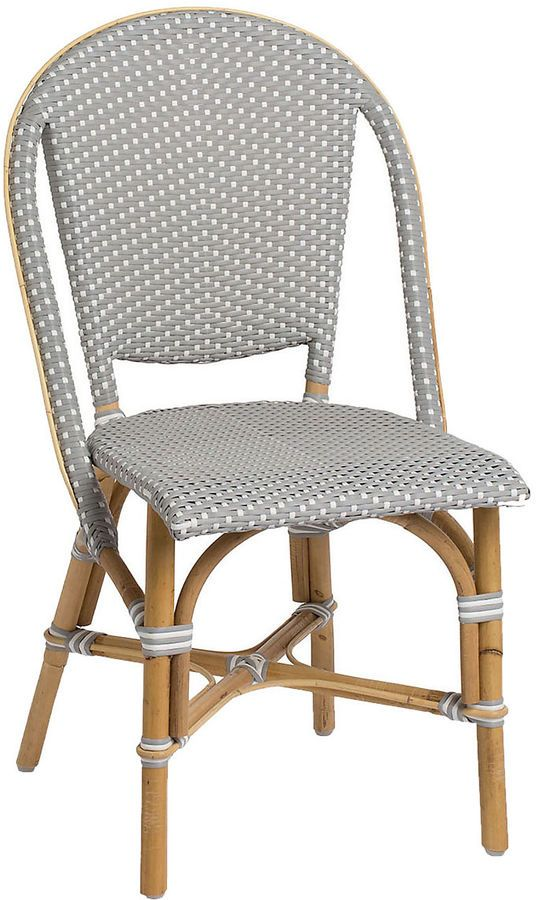 Sika Design A S Sofie Outdoor Bistro Side Chair Gray Bistro