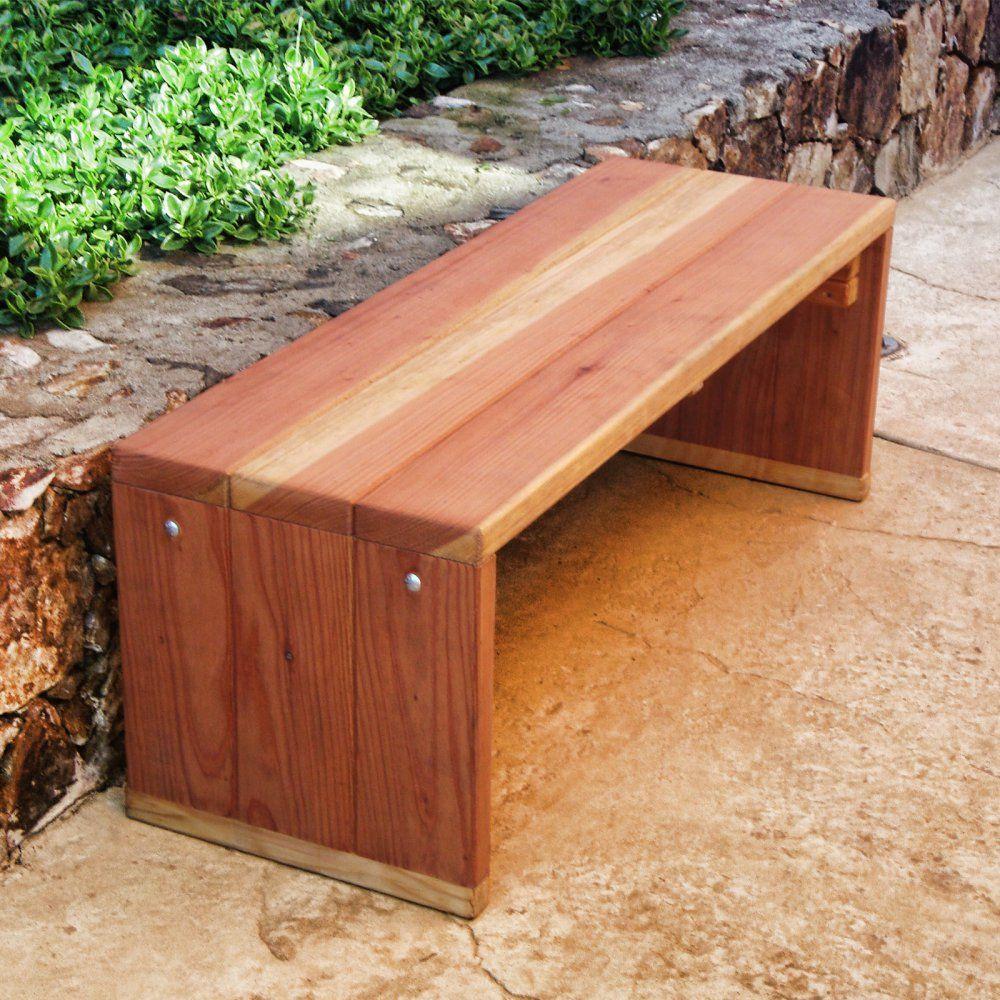 Best Redwood Solid Backless Garden Bench Rustic Outdoor Furniture Diy Bench Outdoor Wooden Garden Benches