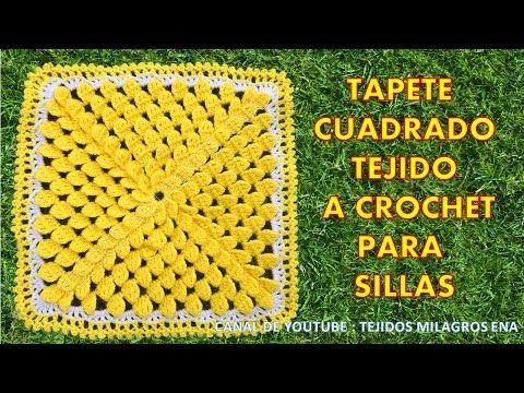 Tapete Cuadrado Tejido A Crochet Para Sillas Tejidos A Crochet Tapetes Tejidos A Crochet Tapetes