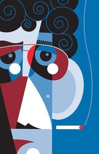 Lou Reed by Pablo Lobato.