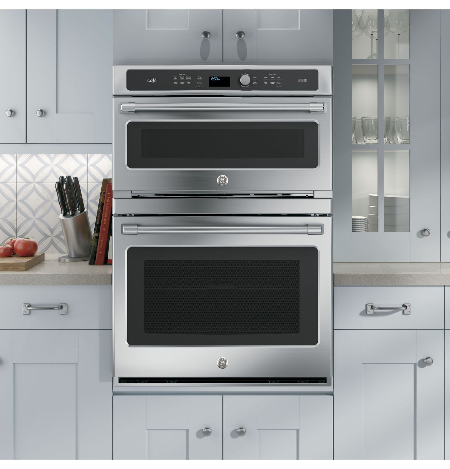 ge advantium 30 stainless steel electric combination wall on wall ovens id=28593