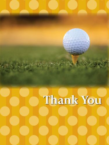 Golf Thank You Card Golf fundraiser, Golf outing, Golf party