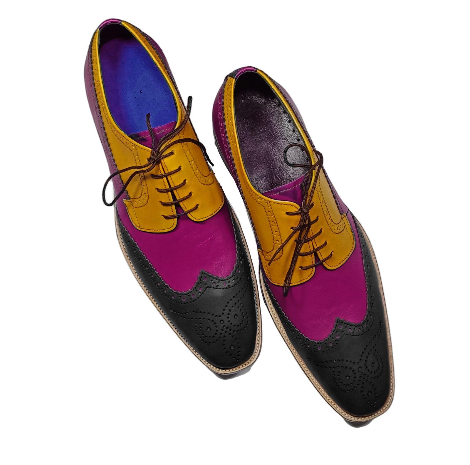 Wingtip Shoes, Men Lace Up Leather Shoe