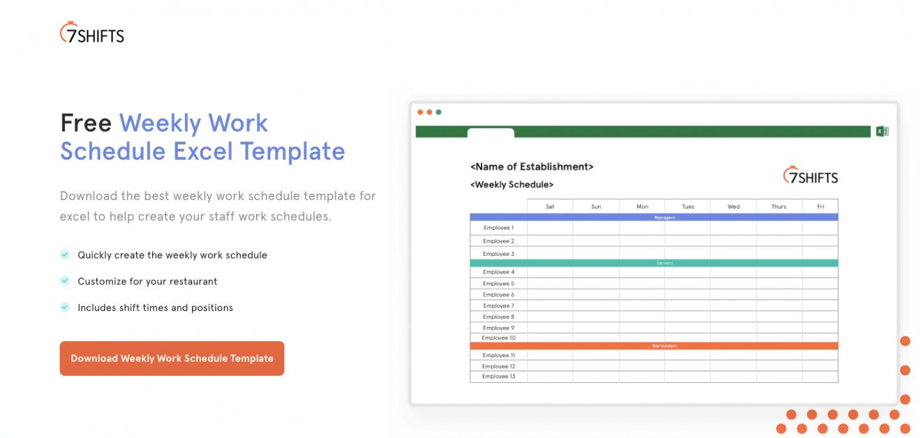 A roundup of the top work schedule templates for word and excel. Get Our Sample Of Restaurant Shift Schedule Template In 2021 Schedule Template Shift Schedule Schedule Templates
