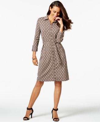 c9bc91cca4d Charter Club Iconic-Print Shirt Dress, Only at Macy's | WRAP DRESSES ...
