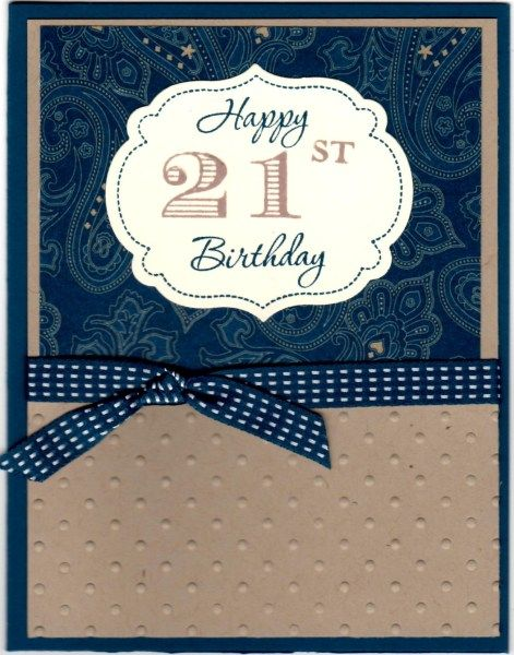 Happy 21st Birthday by atlstamper198 Cards and Paper Crafts at