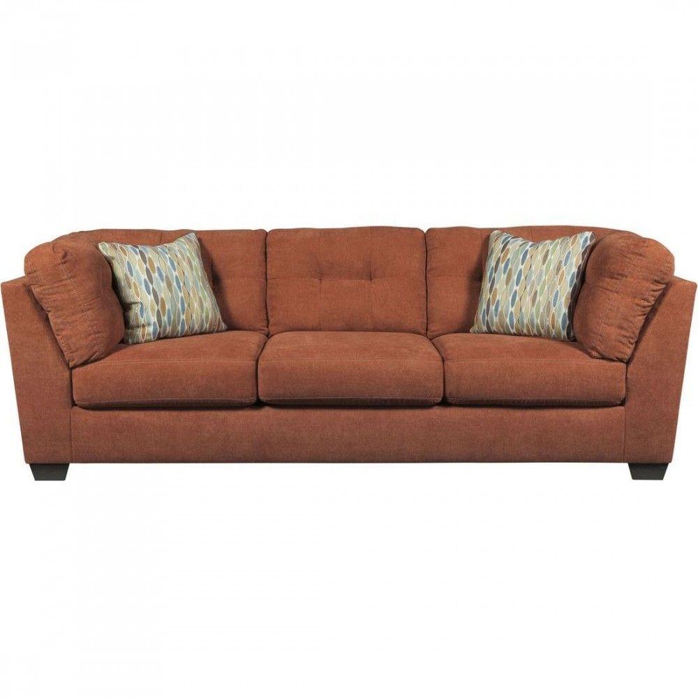 Ashley Furniture Delta City Sofa In Rust