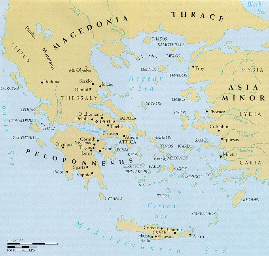 Map Aegean Area in the Bronze Age httpwwwvagobondcom