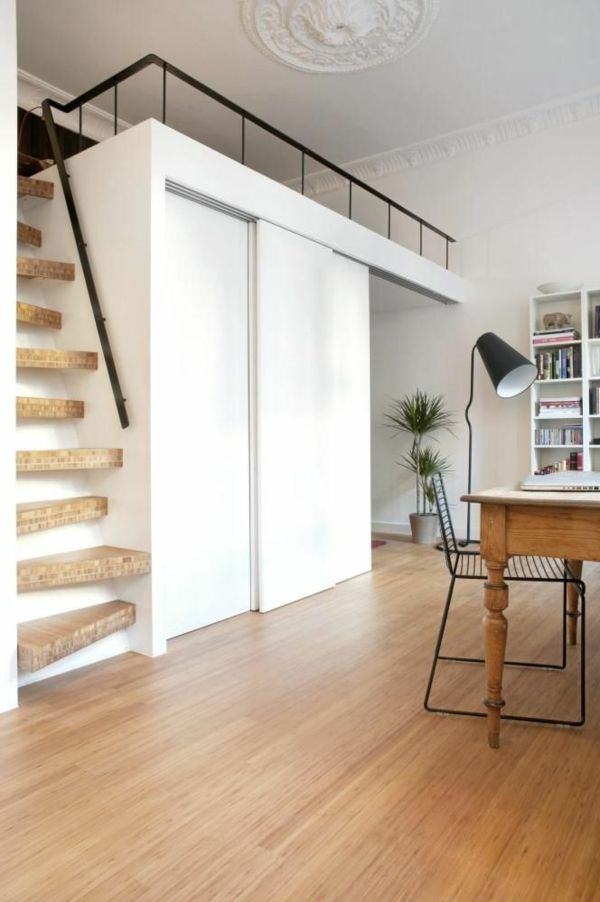 choisir un escalier pour mezzanine pour son loft espacios peque os pinterest mezzanine. Black Bedroom Furniture Sets. Home Design Ideas