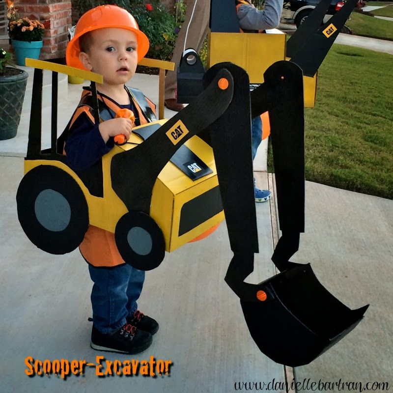 made happy hallween construction equipment costume. Black Bedroom Furniture Sets. Home Design Ideas