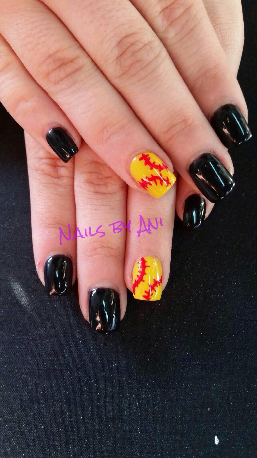 Softball nails - Softball Nails Acrylic Nail Designs Pinterest Softball Nails